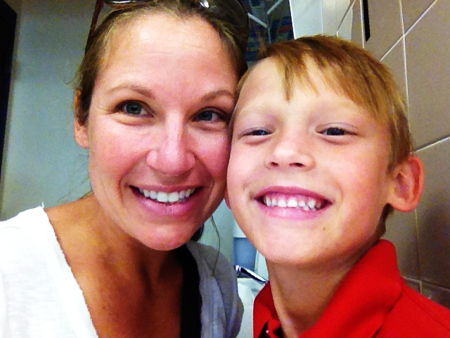 Jennifer and Noah, who is now a happy and healthy 7-year-old boy.