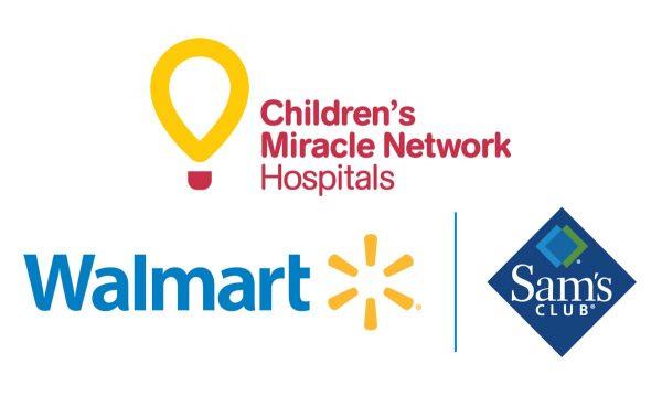 Wal Mart Sams CMNHospitals vertical logo