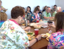UF Health Quality employees luau for the cause