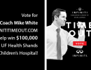 Florida Gators Men's Basketball Coach Mike White has been selected to participate in the 2018 INFINITI Coaches' Charity Challenge, and we are excited that he chose UF Health Shands Children's Hospital as his charity.
