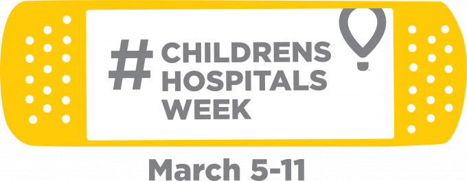 CMN Hospitals Children's Hospitals Week 2018 yellow bandage logo