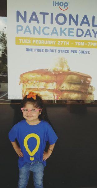 Izabella at National Pancake Day