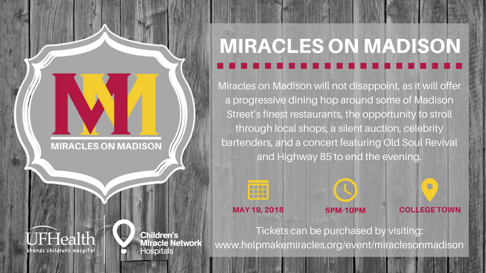 Miracles on Madison shopping and dining event