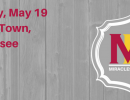 """Miracles on Madison cover photo with wood panel background, logo and red text that reads """"Saturday, May 19, College Town, Tallahassee,"""""""