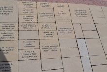 Brick pavers at the Garden of Hope at UF Health.