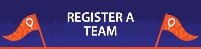 "Blue horizontal button that reads ""Register a Team"""