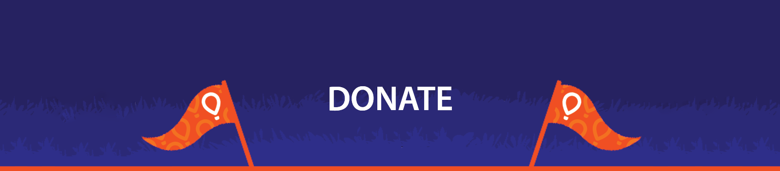 """Blue horizontal button that reads """"Donate"""""""