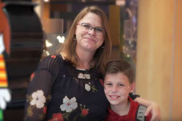 Amber Ferrell, mother to UF Health Shands Children's Hospital patient, Nate, is featured on a new CMN Hospital show, 'Real Moms.'