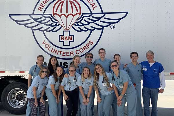 Students and faculty volunteered with Remote Area Medical from Oct. 12-13, providing free health care to underserved and uninsured individuals in Bradenton, Florida.