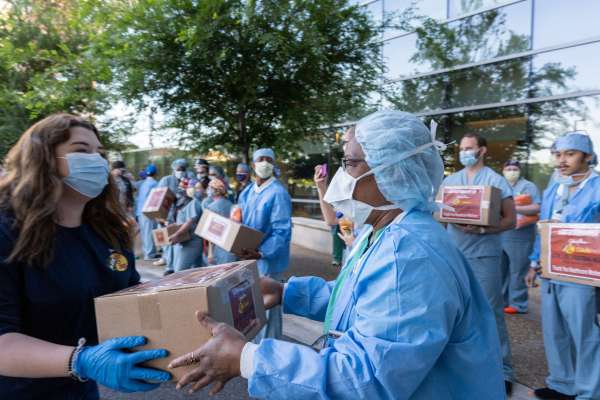Bass Pro Shops donate 6,000 masks to UF Health.