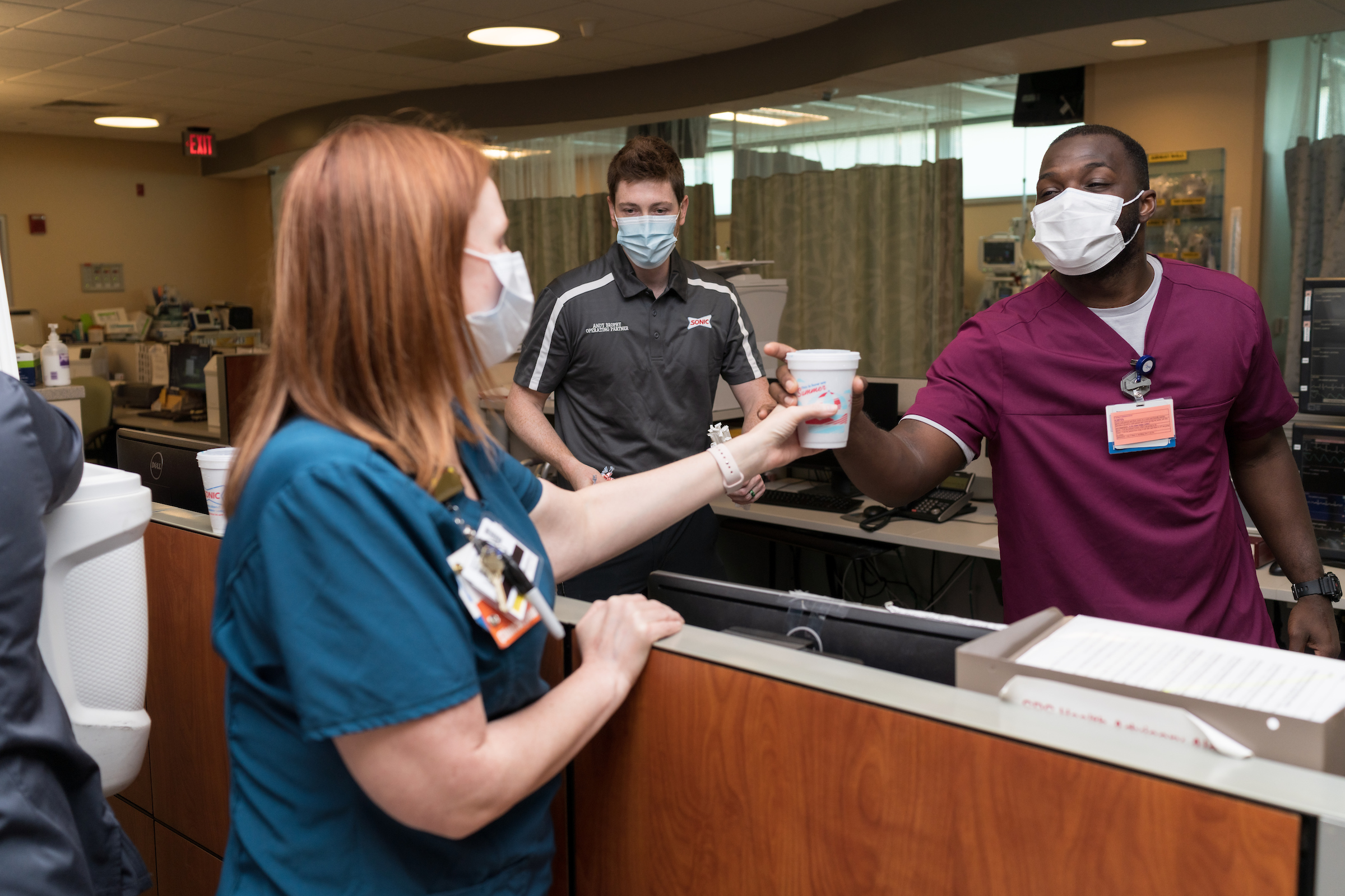 "2,468 slushies were given to UF Health nurses as a part of ""Nourish a Nurse."""