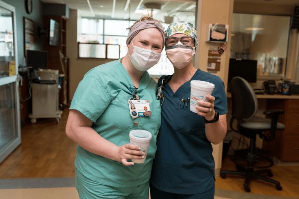 UF Health nurses enjoy Sonic slushies during National Nurses Week.