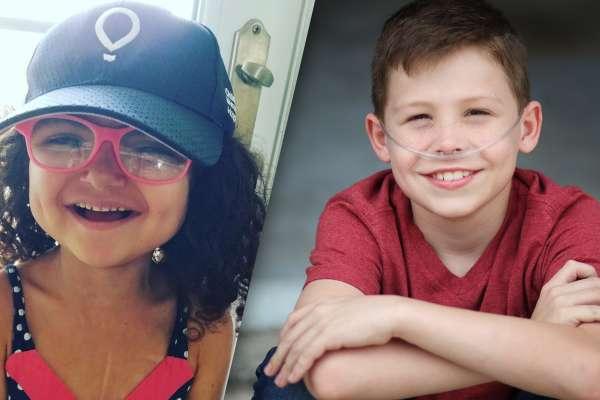 Izabella Neira (left) smiles and Nate Ferrell (right) smiles.