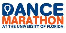 Dance Marathon at the University of Florida orange and blue logo