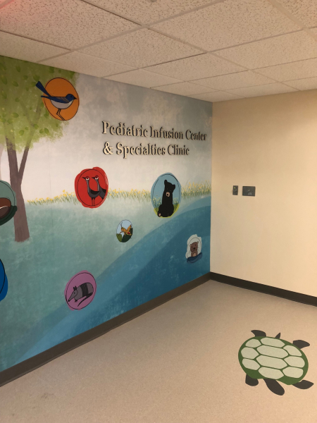 UF Health Shands Children's Hospital pediatric infusion center renovation.