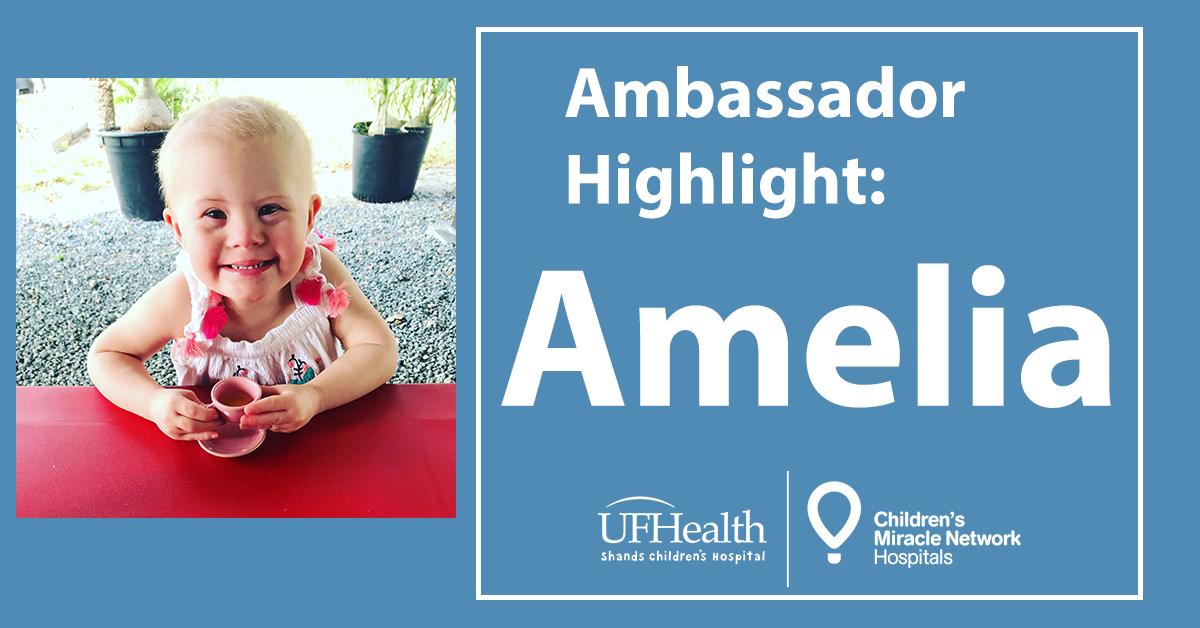 CMN Hospitals ambassador Amelia King