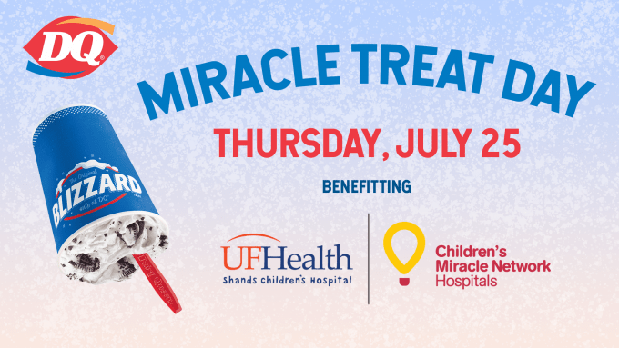 Miracle Treat Day image with an upside down Blizzard treat