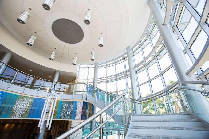 Interior of the UF Health Proton Therapy Institute