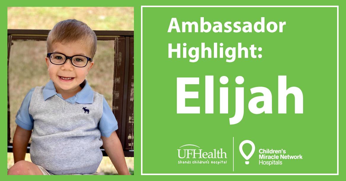 CMN Hospitals local ambassador Elijah Gonzalez.