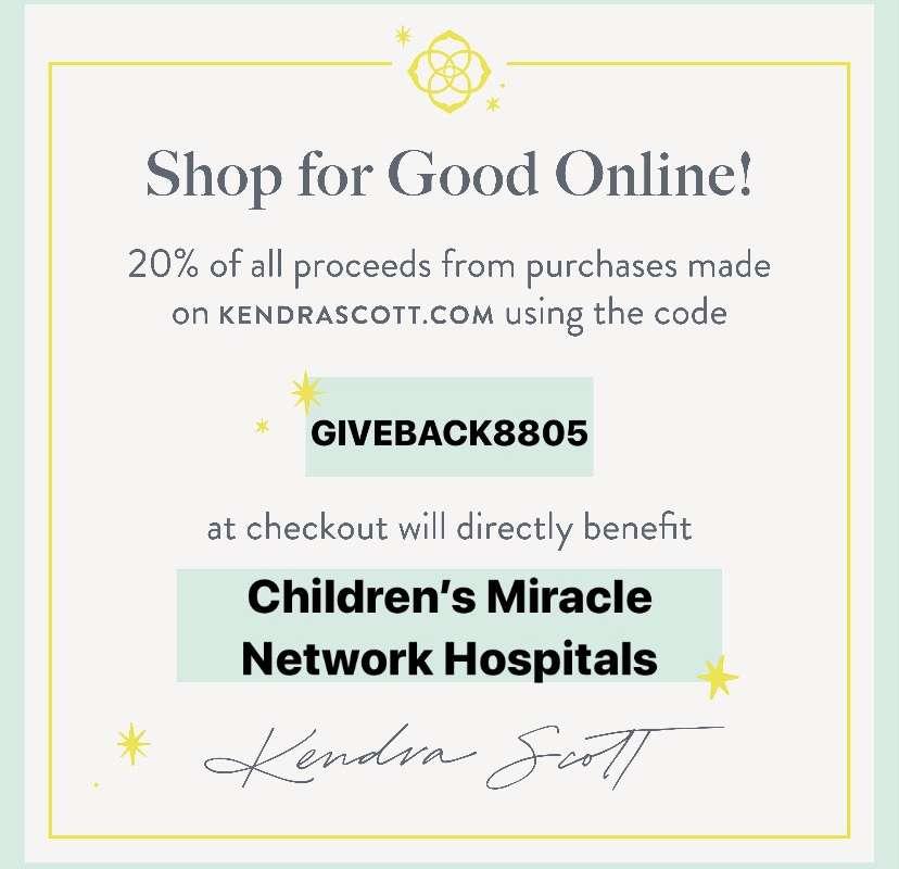 Kendra Scott 2020 CMN Hospitals Give-Back Event