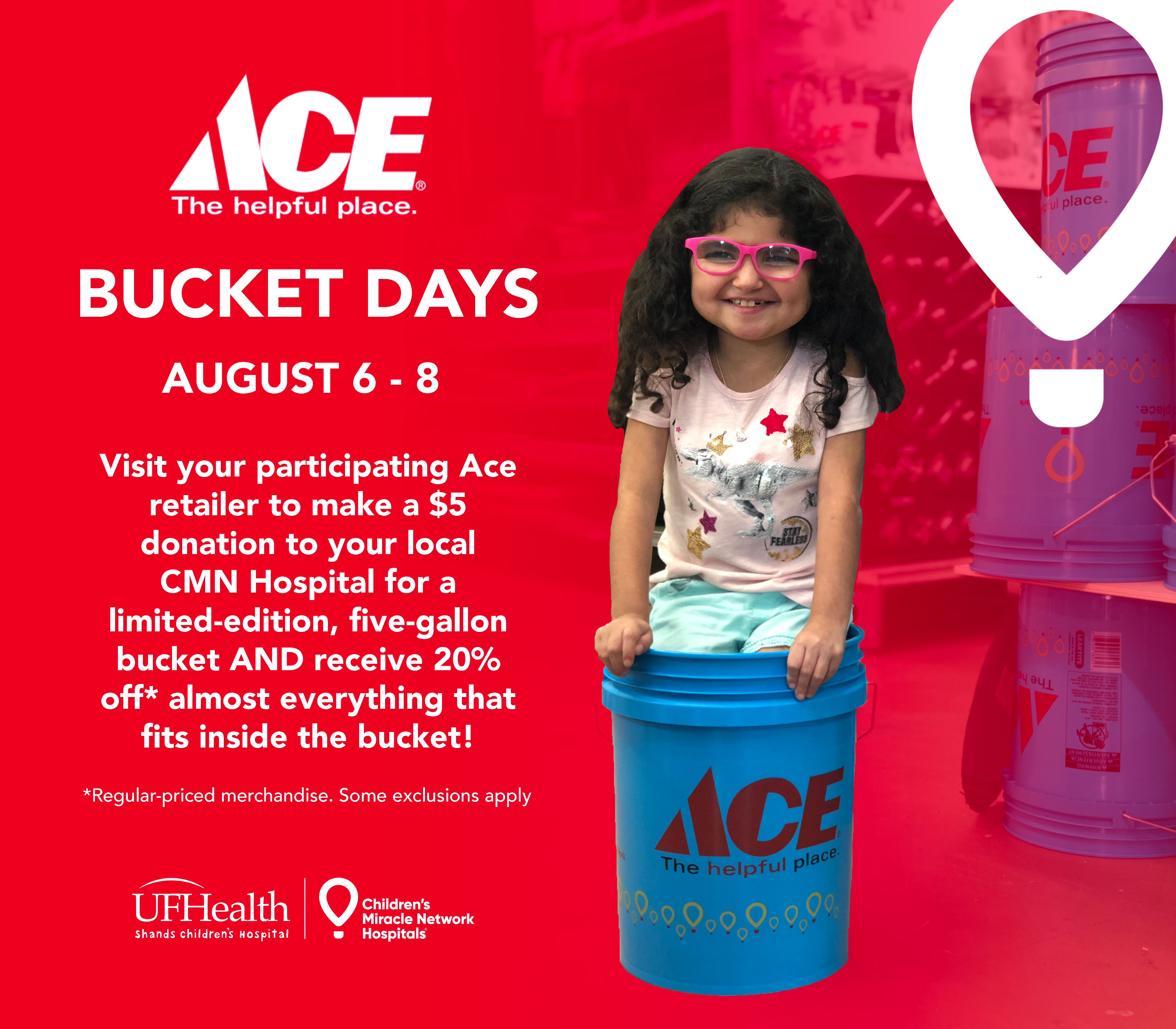 Ace Bucket Days run from August 6 - 8.